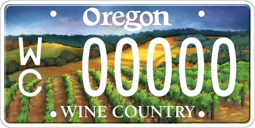 Oregon Wine Country license plates now available<span class=