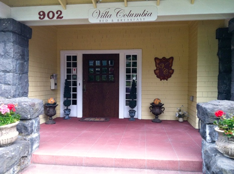 Villa Columbia Bed and Breakfast front entrance