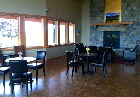 Mt Hood Winery fireplace