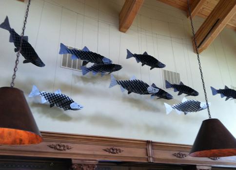 Mt Hood Winery fish art
