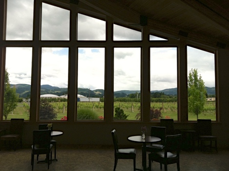 Mt Hood Winery views