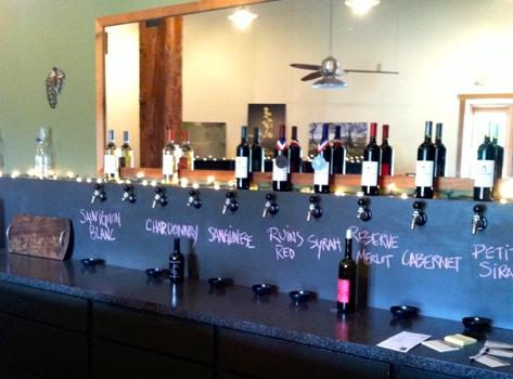 Springhouse wine taps