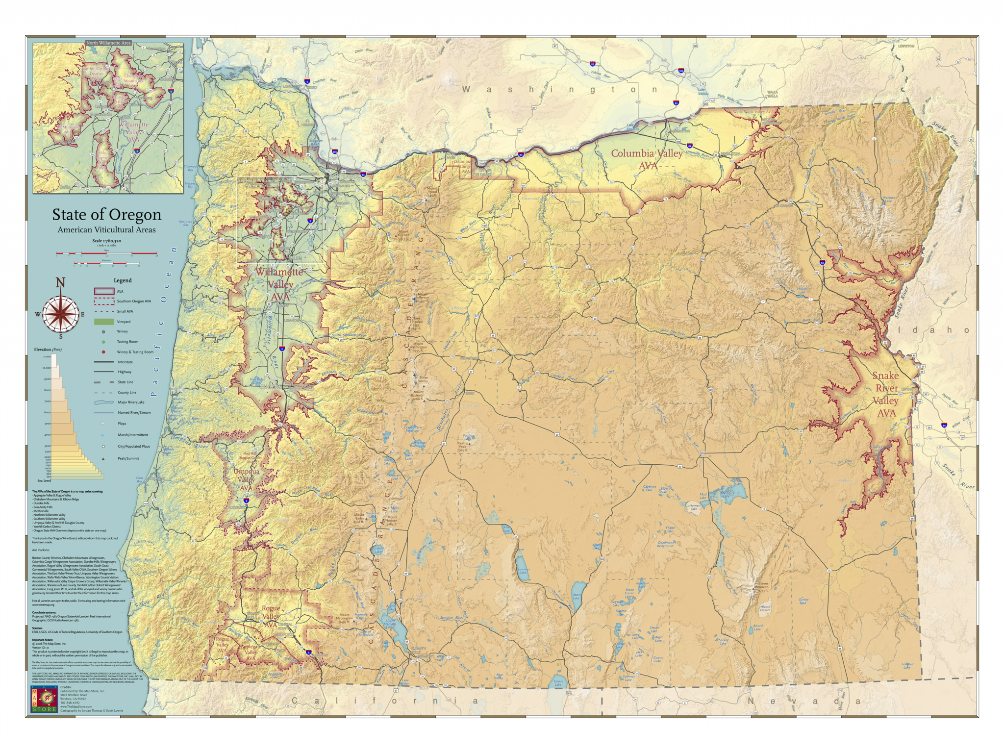 Oregon's wine regions