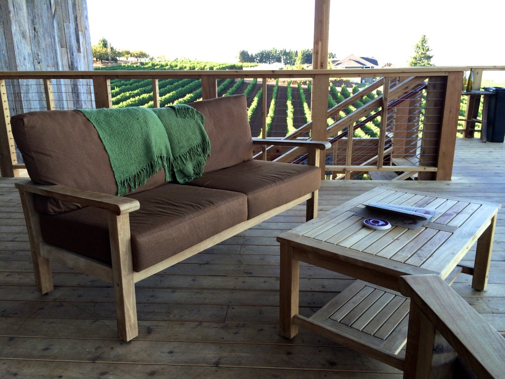 Casual seating on the Brooks Winery patio