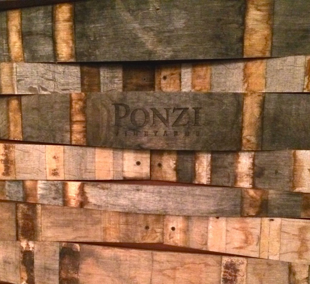 Barrel staves at Brooks Winery
