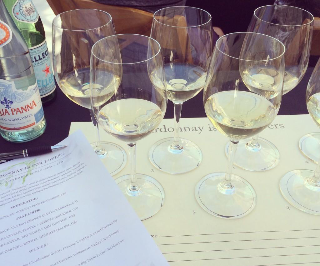 Chardonnay wines at Feast