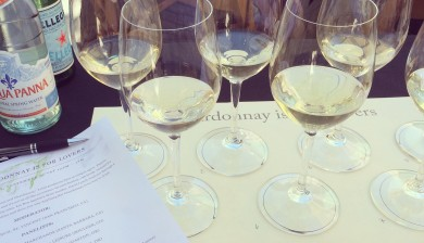 Chardonnay wines at Feast
