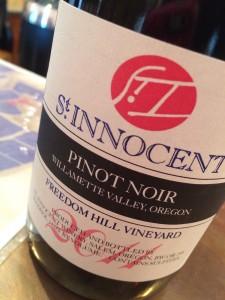 2011 St Innocent Freedom Hill Vineyard Pinot noir