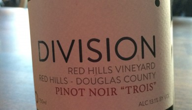 2013 Division Wine Pinot noir Trois