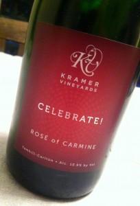Kramer Vineyards Celebrate Rose of Carmine