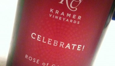 Kramer Vineyards Celebrate Rose of Carmine