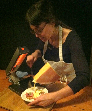Sasha with raclette cheese