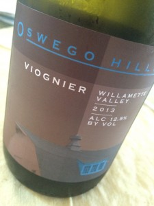 2013 Oswego Hills Viognier