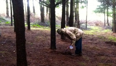 Truffle hunting with dogs at Willamette Valley Vineyard
