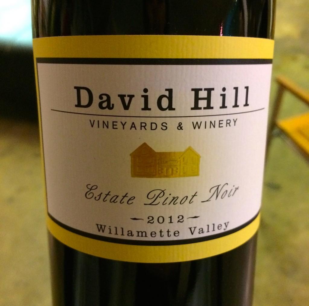 2012 David Hill Vineyards Estate Pinot noir