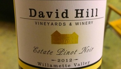 2012 David Hill Vineyards Estate Pinot noir