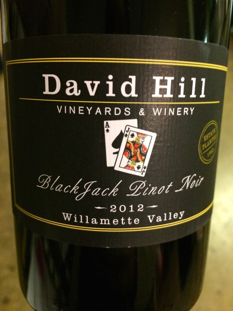 2012 David Hill Vineyards BlackJack Pinot noir