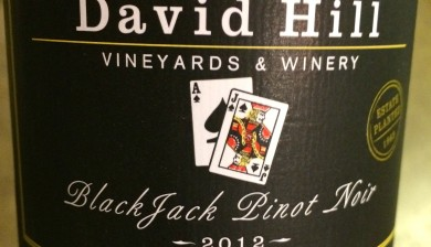2012 David Hill Vineyards BlackJack Pinot noir