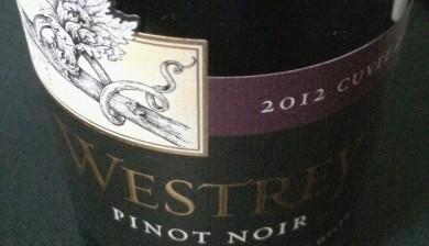 2012 Westrey Cuveé 20 Pinot noir
