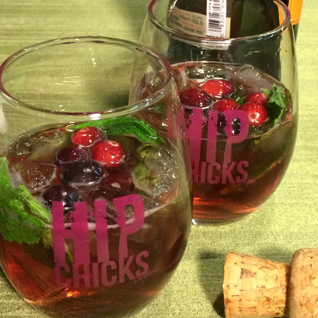 Hip Chicks do Wine Riot Girl Cranberry Sparkler cocktail