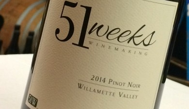 2014 51 Weeks Winemaking Pinot noir