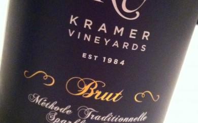 Kramer Vineyards Brut sparkling wine