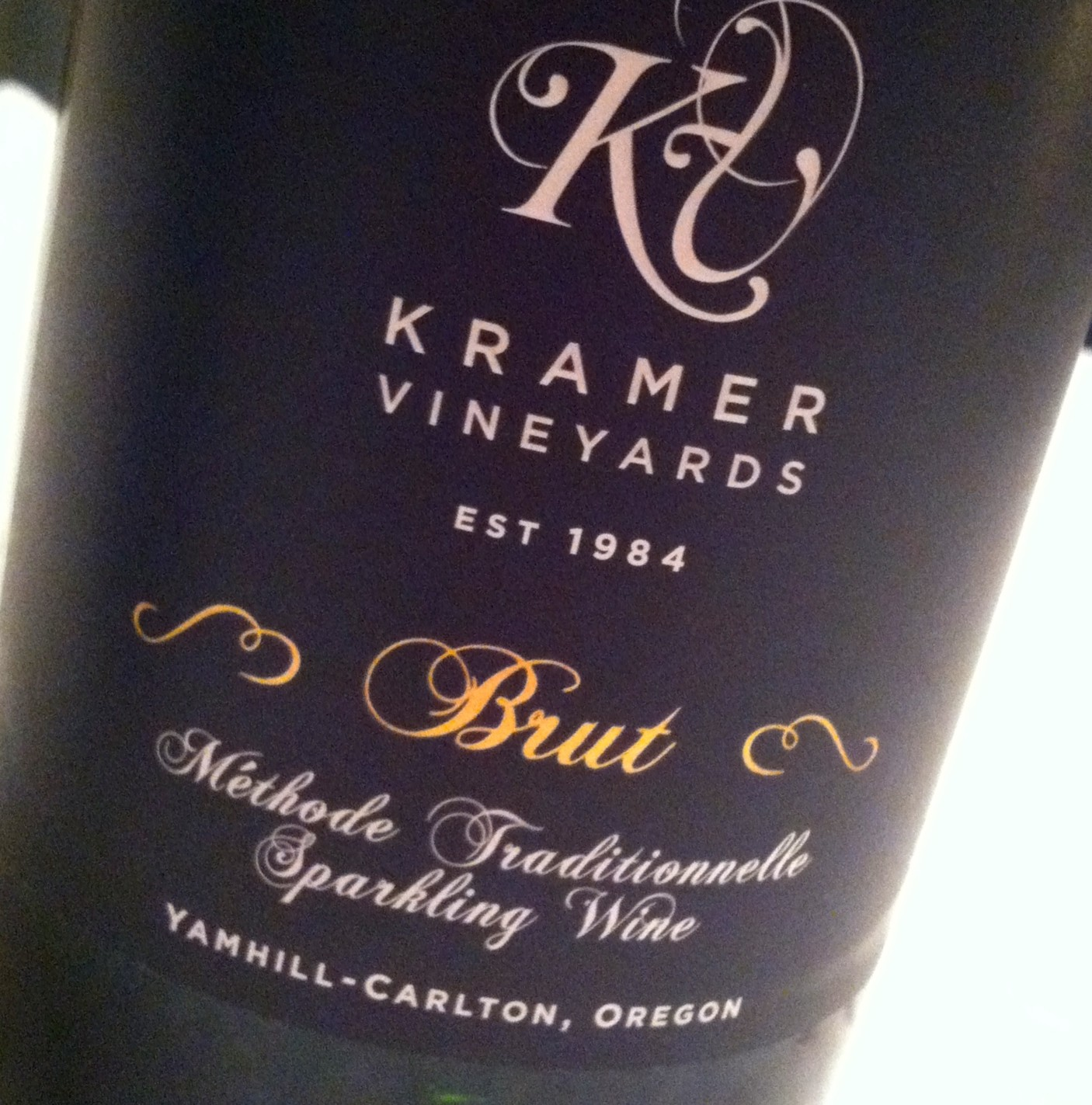 Kramer Vineyards Brut sparkling wine