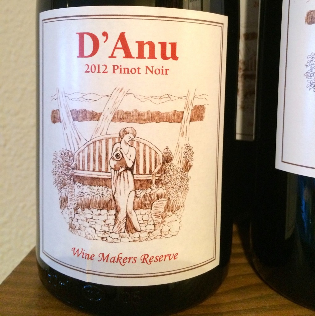 2012 D'Anu Wine Makers Reserve Pinot noir