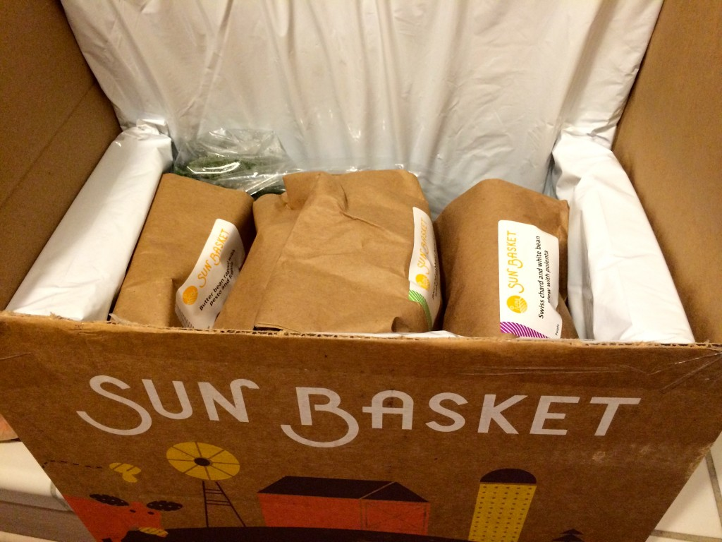 Sun Basket shipment box