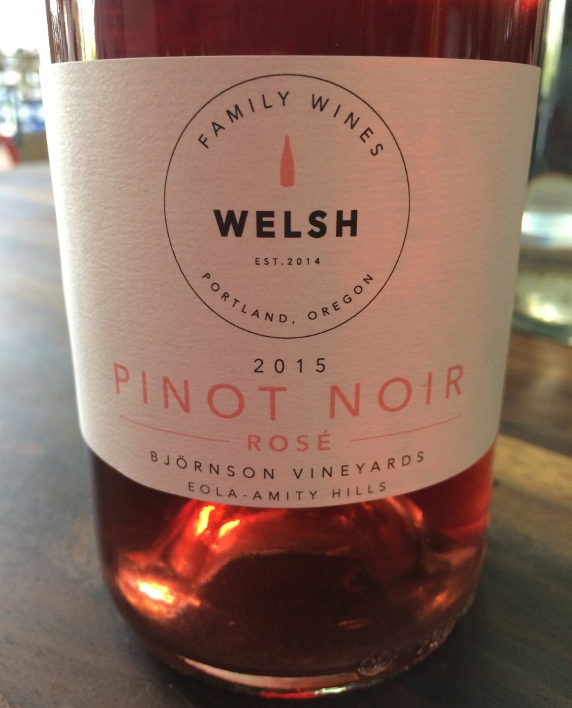 2015 Welsh Family Winery Pinot noir Rosé