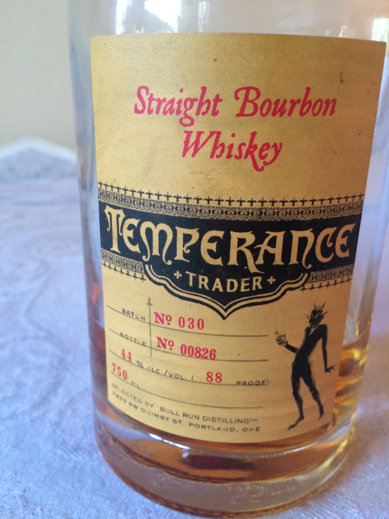 Bull Run Distilling Co. Temperance Trader Straight Bourbon Whiskey