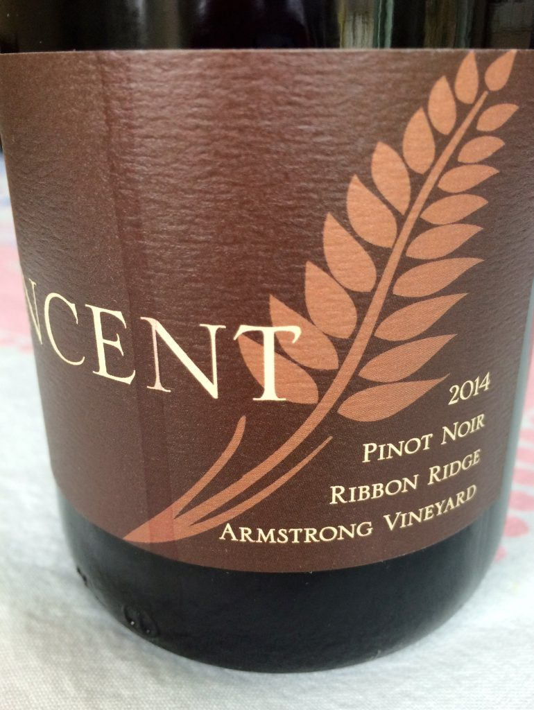 2014 Vincent Wines Armstrong Vineyard Pinot noir