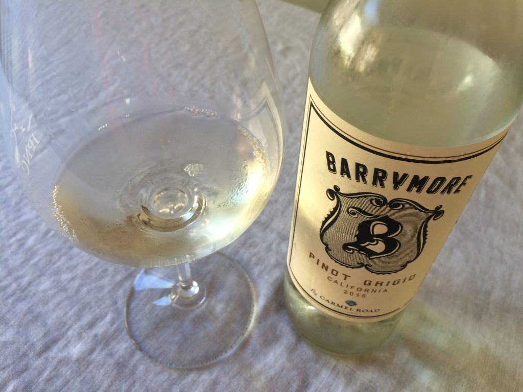 2015 Barrymore by Carmel Road Pinot grigio